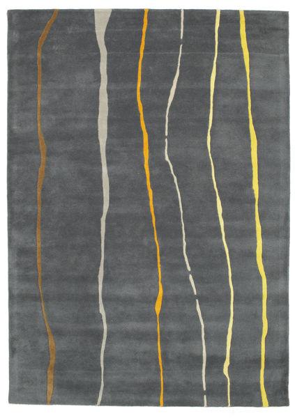 Flaws Handtufted - Grå Tæppe 160X230 Moderne Mørkegrå/Lysegrå (Uld, Indien)