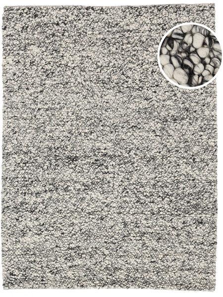 Bubbles - Melange Grå Tæppe 300X400 Moderne Lysegrå/Turkis Blå Stort (Uld, Indien)