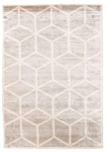 Facets Tæppe 170X240 Ægte Moderne Håndknyttet Lysegrå/Hvid/Creme ( Indien)