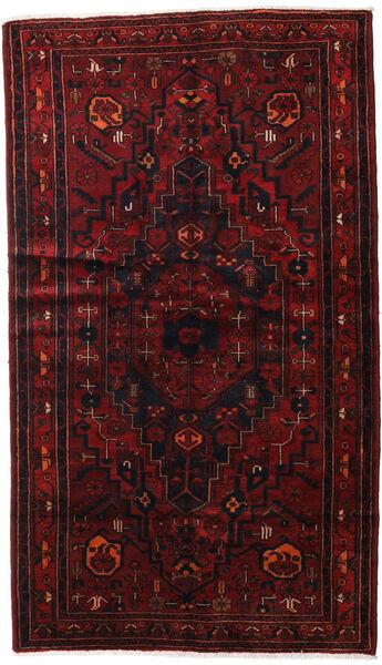 Hamadan Tæppe 143X248 Ægte Orientalsk Håndknyttet Mørkerød (Uld, Persien/Iran)