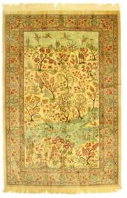 Ghom Silke Figurativt/Billedligt Tæppe 131X198 Ægte Orientalsk Håndknyttet (Silke, Persien/Iran)