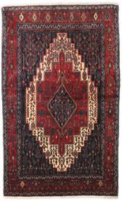 Senneh Tæppe 128X210 Ægte Orientalsk Håndknyttet Mørkebrun/Mørkerød (Uld, Persien/Iran)