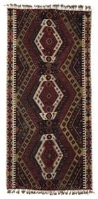 Kelim Malatya Tæppe 186X391 Ægte Orientalsk Håndvævet Mørkebrun/Lysebrun (Uld, Tyrkiet)