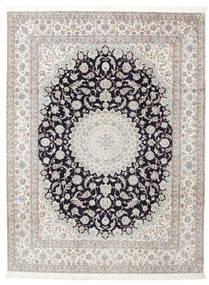 Nain 6La Signatur: Habibian Tæppe 205X271 Ægte Orientalsk Håndknyttet (Uld/Silke, Persien/Iran)