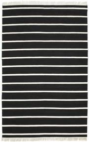 Dorri Stripe - Sort/Hvid Tæppe 190X290 Ægte Moderne Håndvævet Sort/Beige (Uld, Indien)