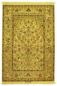 Isfahan Silke Trend Figurativt/Billedligt Signatur: Nasr Tæppe 142X210 Ægte Orientalsk Håndknyttet (Uld/Silke, Persien/Iran)