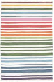 Rainbow Stripe - Hvid Tæppe 200X300 Ægte Moderne Håndvævet Hvid/Creme (Bomuld, Indien)