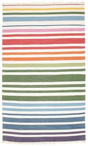 Rainbow Stripe - Hvid Tæppe 180X280 Ægte Moderne Håndvævet Beige/Hvid/Creme (Bomuld, Indien)