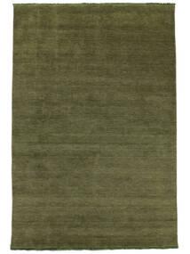 Handloom Fringes - Grøn Tæppe 250X350 Moderne Olivengrøn Stort (Uld, Indien)