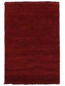 Handloom Fringes - Mørkerød Tæppe 200X300 Moderne Rød (Uld, Indien)