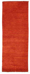 Handloom Fringes - Rust/Rød Tæppe 80X200 Moderne Tæppeløber Rust (Uld, Indien)