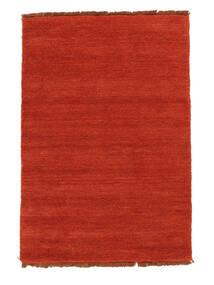 Handloom Fringes - Rust/Rød Tæppe 140X200 Moderne Rust (Uld, Indien)