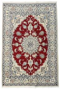 Nain Tæppe 140X212 Ægte Orientalsk Håndknyttet Beige/Lysegrå (Uld, Persien/Iran)