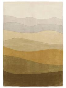 Feeling Handtufted - Brun Tæppe 160X230 Moderne Mørk Beige/Olivengrøn (Uld, Indien)