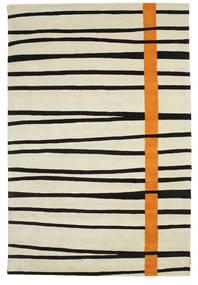 Gummi Twist Handtufted - Orange Tæppe 200X300 Moderne Mørk Beige/Sort (Uld, Indien)