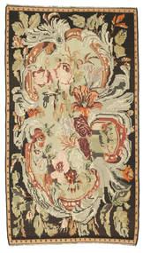 Rose Kelim Tæppe 180X315 Ægte Orientalsk Håndvævet Brun/Mørk Beige (Uld, Moldova)