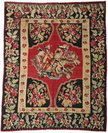 Kelim Semiantik Tæppe 287X355 Ægte Orientalsk Håndvævet Mørkerød/Sort Stort (Uld, Slovenien)