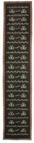 Kelim Bulgarian Tæppe 174X850 Ægte Orientalsk Håndvævet Tæppeløber Mørkegrå (Uld, Bulgarien)