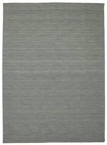 Kelim Loom - Mørkegrå Tæppe 250X350 Ægte Moderne Håndvævet Lysegrå/Mørkegrøn Stort (Uld, Indien)