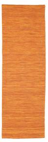 Kelim Loom - Orange Tæppe 80X250 Ægte Moderne Håndvævet Tæppeløber Orange (Uld, Indien)