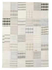 Kelim Patchwork Tæppe 171X240 Ægte Moderne Håndvævet Beige/Hvid/Creme (Uld, Tyrkiet)