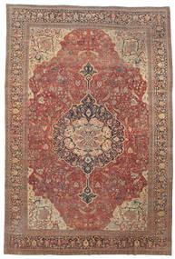 Farahan Tæppe 368X550 Ægte Orientalsk Håndknyttet Mørkerød/Brun Stort (Uld, Persien/Iran)