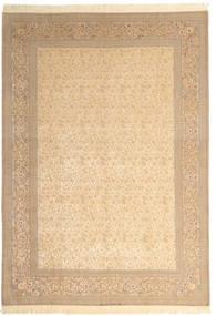 Isfahan Silketrend Signatur: Dardashti Tæppe 250X350 Ægte Orientalsk Håndknyttet Beige/Lysebrun Stort (Uld/Silke, Persien/Iran)