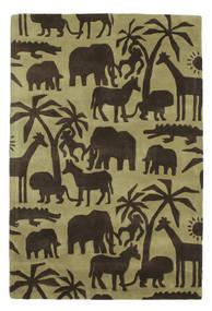 Africa Handtufted Tæppe 120X180 Moderne Mørkebrun/Olivengrøn/Lysgrøn (Uld, Indien)