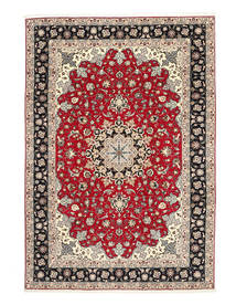 Tabriz 50 Raj Silketrend Tæppe 200X310 Ægte Orientalsk Håndknyttet Lysegrå/Mørkegrå (Uld/Silke, Persien/Iran)