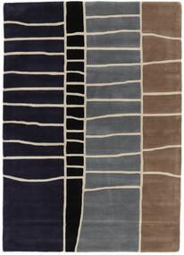 Abstract Bambus Handtufted Tæppe 160X230 Moderne Mørkelilla/Lysegrå (Uld, Indien)
