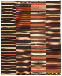 Kelim Patchwork Tæppe 242X298 Ægte Moderne Håndvævet Mørkebrun/Rød (Uld, Tyrkiet)