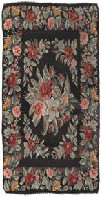 Rose Kelim Tæppe 171X325 Ægte Orientalsk Håndvævet Mørkegrå/Olivengrøn (Uld, Moldova)