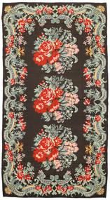 Rose Kelim Tæppe 171X314 Ægte Orientalsk Håndvævet Mørkegrå/Lysegrå (Uld, Moldova)