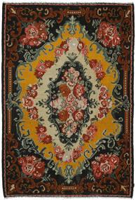 Rose Kelim Tæppe 221X321 Ægte Orientalsk Håndvævet Sort/Mørkebrun (Uld, Moldova)