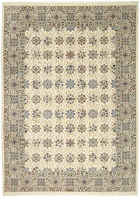 Ilam Sherkat Farsh Silke Tæppe 250X350 Ægte Orientalsk Håndknyttet Lysegrå/Beige Stort (Uld/Silke, Persien/Iran)