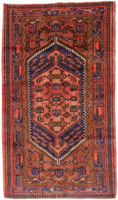 Hamadan Tæppe 143X247 Ægte Orientalsk Håndknyttet Mørkerød/Rød (Uld, Persien/Iran)