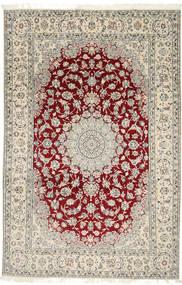 Nain 9La Tæppe 202X310 Ægte Orientalsk Håndknyttet Lysegrå/Beige (Uld/Silke, Persien/Iran)