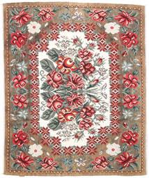 Rose Kelim Moldavia Tæppe 177X213 Ægte Orientalsk Håndvævet Lysebrun/Mørkebrun (Uld, Moldova)