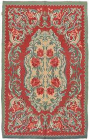 Rose Kelim Moldavia Tæppe 154X242 Ægte Orientalsk Håndvævet Rust/Olivengrøn (Uld, Moldova)