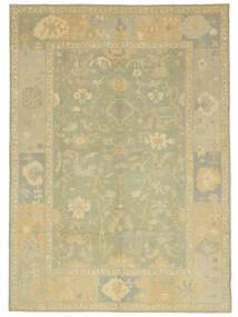 Usak Tæppe 305X427 Ægte Orientalsk Håndknyttet Lysgrøn/Beige Stort (Uld, Tyrkiet)