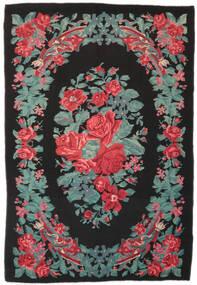 Rose Kelim Moldavia Tæppe 173X247 Ægte Orientalsk Håndvævet Sort/Turkis Blå (Uld, Moldova)