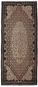 Rose Kelim Moldavia Tæppe 164X382 Ægte Orientalsk Håndvævet Tæppeløber Mørkebrun/Lysegrå/Brun (Uld, Moldova)