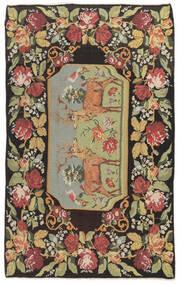 Rose Kelim Moldavia Tæppe 178X295 Ægte Orientalsk Håndvævet Mørkegrå/Mørk Beige (Uld, Moldova)
