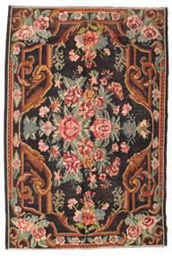 Rose Kelim Moldavia Tæppe 184X277 Ægte Orientalsk Håndvævet Sort/Mørkegrå (Uld, Moldova)