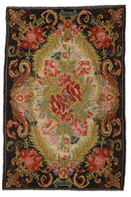 Rose Kelim Moldavia Tæppe 194X297 Ægte Orientalsk Håndvævet Rød/Mørkebrun (Uld, Moldova)