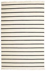 Dorri Stripe - Hvid/Sort Tæppe 200X300 Ægte Moderne Håndvævet Beige/Mørkegrå (Uld, Indien)