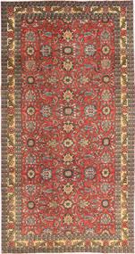 Tabriz Patina Tæppe 168X318 Ægte Orientalsk Håndknyttet Mørkerød/Lysebrun (Uld, Persien/Iran)
