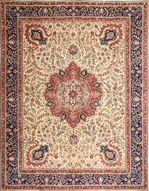 Tabriz Patina Tæppe 305X390 Ægte Orientalsk Håndknyttet Lysebrun/Beige Stort (Uld, Persien/Iran)