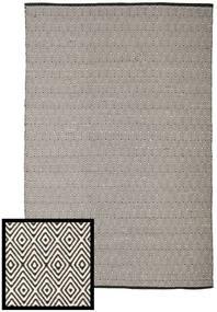 Diamond - Sort/Hvid Tæppe 250X300 Ægte Moderne Håndvævet Lysegrå/Mørkegrå Stort (Bomuld, Indien)