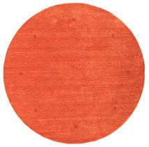 Loribaf Loom Tæppe Ø 202 Ægte Moderne Håndknyttet Rundt Orange/Rød (Uld, Indien)